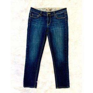 PAIGE Skinny Dark Wash Crop Jeans